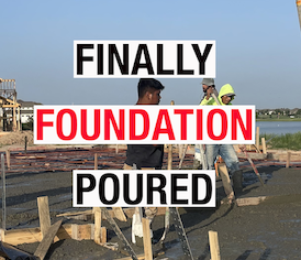 CUSTOM HOME FOUNDATION SLAB POURED | PARTNERS IN BUILDING PART 5